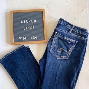 Silver Elyse Straight Leg Distressed Jeans